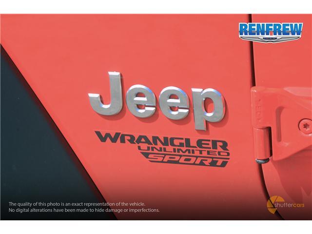 2019 Jeep Wrangler Unlimited Sport (Stk: K200) in Renfrew - Image 6 of 20