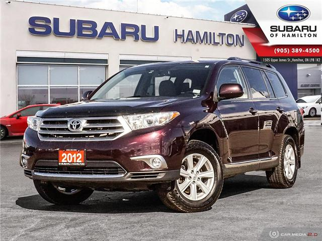 2012 Toyota Highlander V6 (Stk: S7583A) in Hamilton - Image 1 of 24