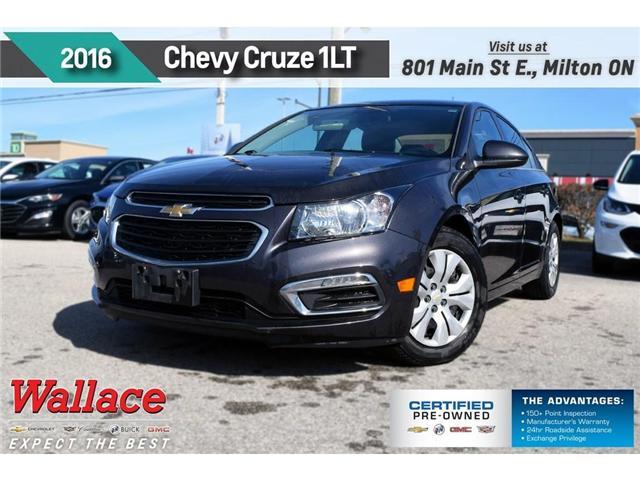 2016 Chevrolet Cruze LT 1LT/REAR CAM/REMOTE STRT/7 SCRN/6-SPKR (Stk: 172359A) in Milton - Image 1 of 3