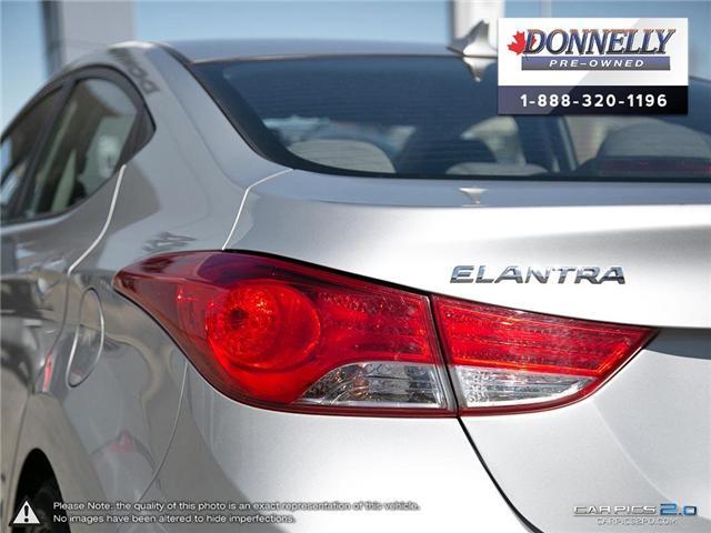 2012 Hyundai Elantra GLS (Stk: PBWMU955A) in Kanata - Image 11 of 27