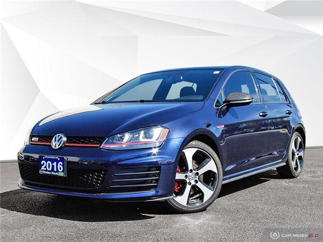 2016 Volkswagen Golf GTI 5-Door Autobahn (Stk: PR7323) in Windsor - Image 1 of 27