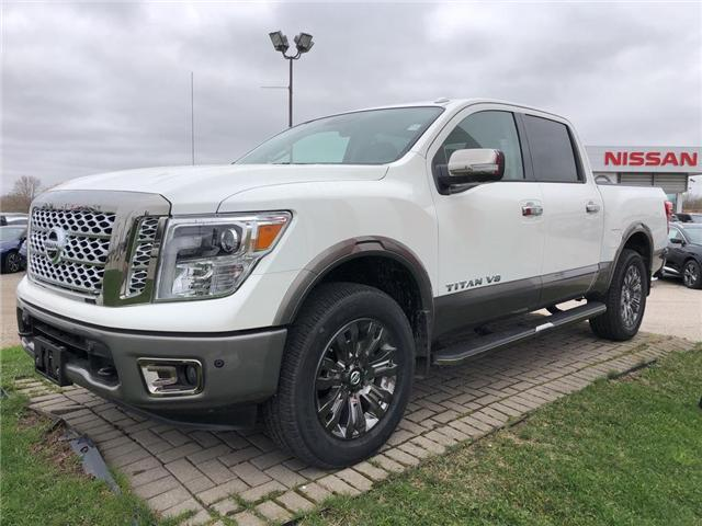 2018 Nissan Titan Platinum (Stk: U1093) in Cambridge - Image 1 of 5