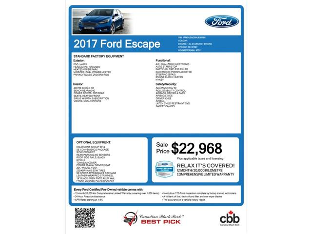 2017 Ford Escape SE (Stk: ED181687A) in Barrie - Image 2 of 27