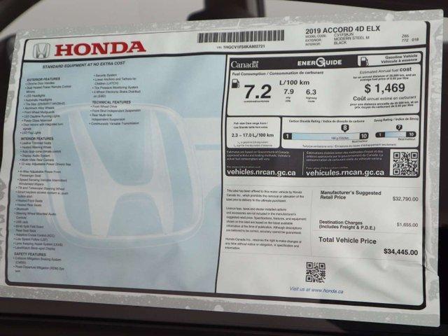 2019 Honda Accord EX-L 1.5T (Stk: 219246) in Huntsville - Image 34 of 34