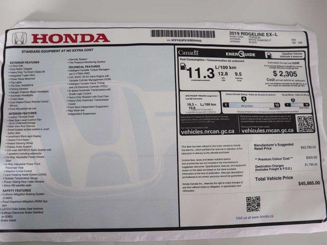 2019 Honda Ridgeline EX-L (Stk: 219344) in Huntsville - Image 35 of 36