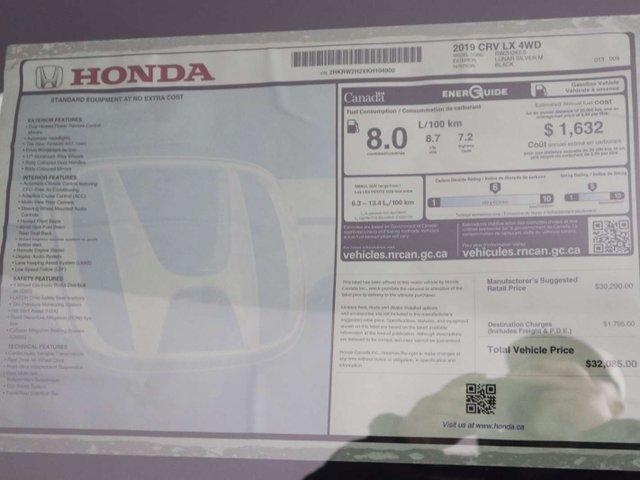 2019 Honda CR-V LX (Stk: 219416) in Huntsville - Image 32 of 32