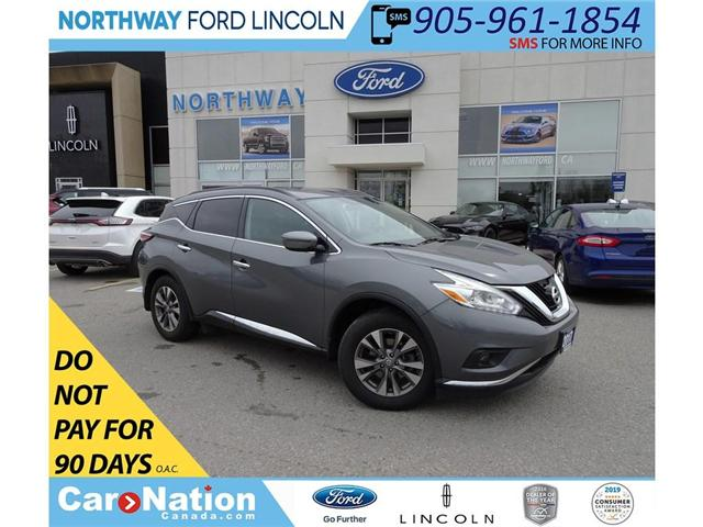 2017 Nissan Murano SV | AWD | BACK UP CAM | PANO ROOF | (Stk: DR70) in Brantford - Image 1 of 36