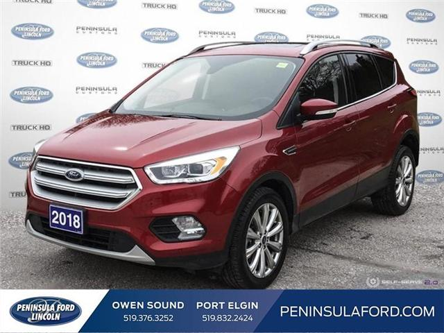 2018 Ford Escape Titanium (Stk: 1752) in Owen Sound - Image 1 of 24