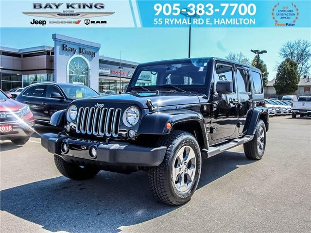 2017 Jeep Wrangler Unlimited Unlimited Sahara (Stk: 197615A) in Hamilton - Image 1 of 23