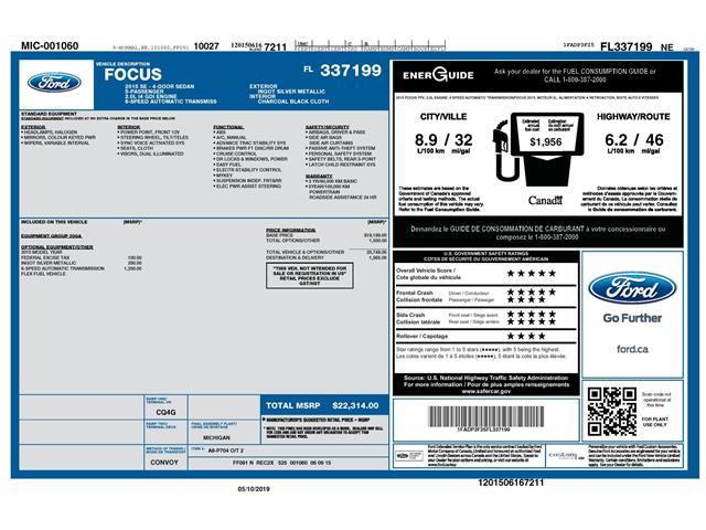 2015 Ford Focus SE (Stk: 147810) in Kitchener - Image 2 of 4