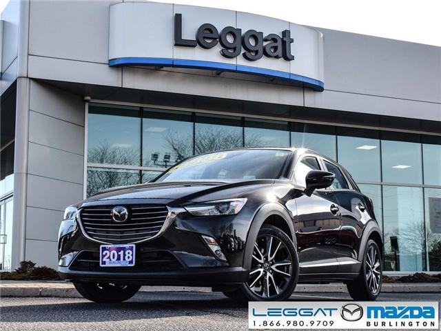 2018 Mazda CX-3 GT- LEATHER, BOSE, ALL WHEEL DRIVE, GPS (Stk: 1825) in Burlington - Image 1 of 24