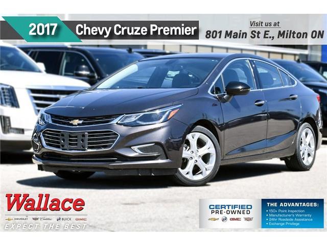 2017 Chevrolet Cruze Premier/HTD STS&WHEEL/REMOT STRT/7 SCRN/17S/CAMRA (Stk: PR5077) in Milton - Image 1 of 25