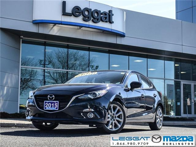 2015 Mazda Mazda3 GT - LEATHER, BOSE, HEADS UP DISPLAY (Stk: 196093A) in Burlington - Image 1 of 23