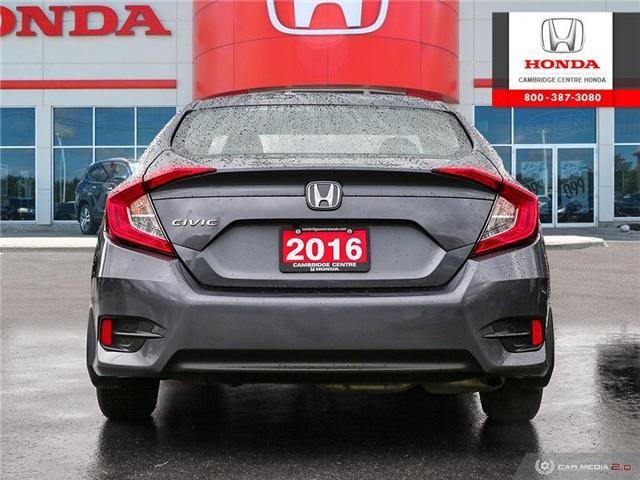 2016 Honda Civic EX (Stk: 19563A) in Cambridge - Image 5 of 27