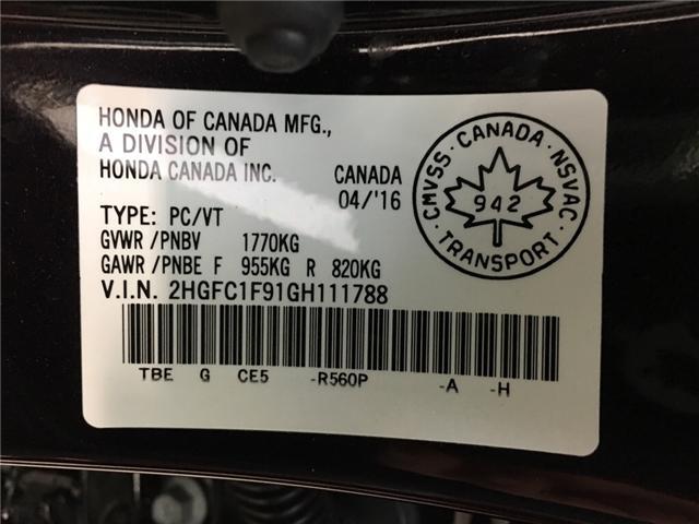 2016 Honda Civic Touring (Stk: 34967J) in Belleville - Image 26 of 29