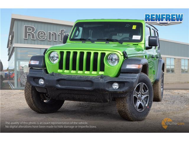 2019 Jeep Wrangler Unlimited Sport (Stk: K220) in Renfrew - Image 1 of 20