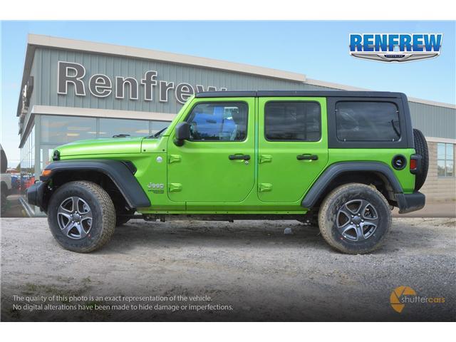2019 Jeep Wrangler Unlimited Sport (Stk: K220) in Renfrew - Image 3 of 20