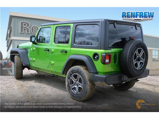 2019 Jeep Wrangler Unlimited Sport (Stk: K220) in Renfrew - Image 4 of 20