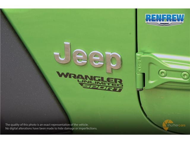 2019 Jeep Wrangler Unlimited Sport (Stk: K220) in Renfrew - Image 6 of 20