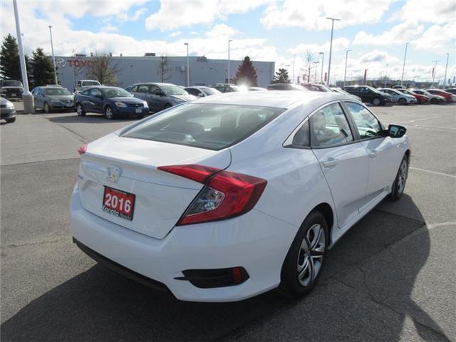 2016 Honda Civic LX (Stk: K14413A) in Ottawa - Image 8 of 17