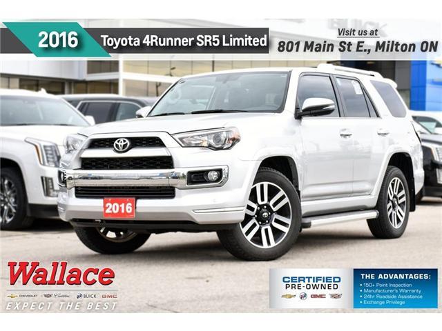 2016 Toyota 4Runner SR5 Limited/4WD/SUNRF/HTD&CLD STS/NAV/15-SPRK (Stk: PL5215) in Milton - Image 1 of 30