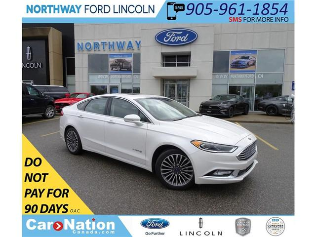 2018 Ford Fusion Hybrid Titanium | NAV | PWR HTD LEATHER | SUNROOF | (Stk: DR215) in Brantford - Image 1 of 46