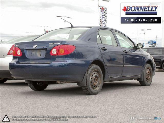 2003 Toyota Corolla CE (Stk: PBWDU5989B) in Ottawa - Image 4 of 29