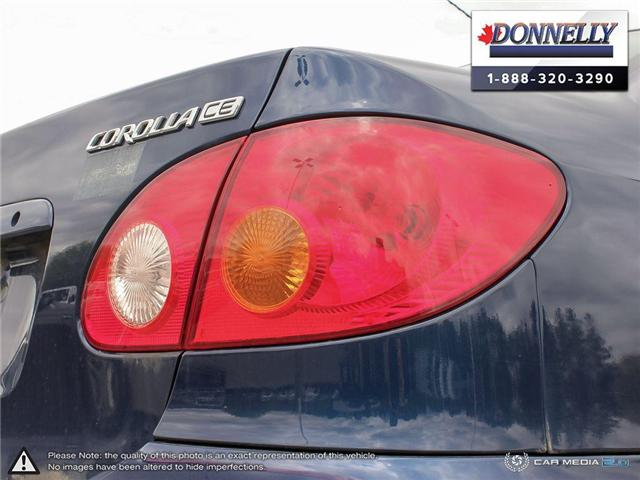 2003 Toyota Corolla CE (Stk: PBWDU5989B) in Ottawa - Image 12 of 29