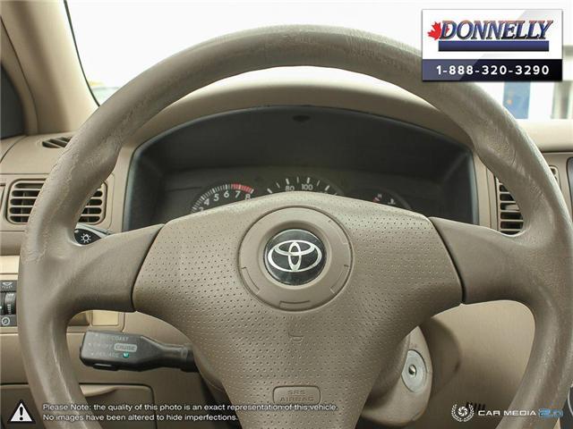 2003 Toyota Corolla CE (Stk: PBWDU5989B) in Ottawa - Image 13 of 29