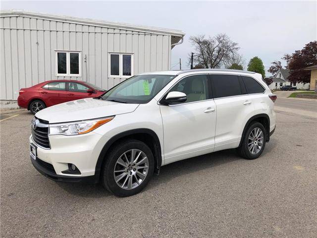2016 Toyota Highlander XLE (Stk: U10519) in Goderich - Image 1 of 18