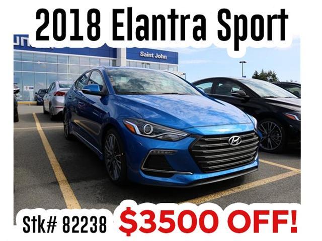 2018 Hyundai Elantra Sport (Stk: 82238) in Saint John - Image 1 of 3