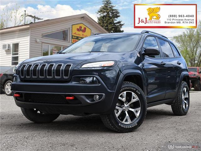 2017 Jeep Cherokee Trailhawk (Stk: J16124) in Brandon - Image 1 of 27