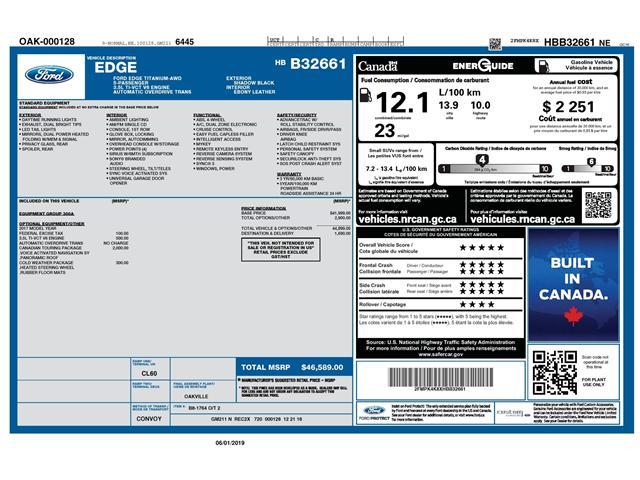 2017 Ford Edge Titanium (Stk: 148090) in Kitchener - Image 19 of 21