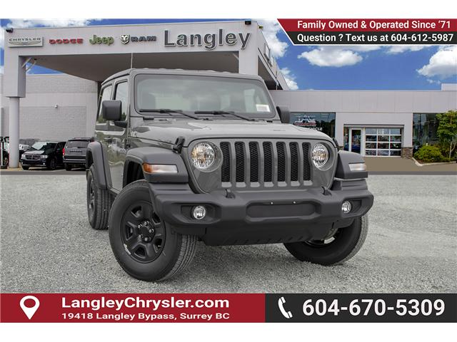 2019 Jeep Wrangler Sport (Stk: K633078) in Surrey - Image 1 of 19