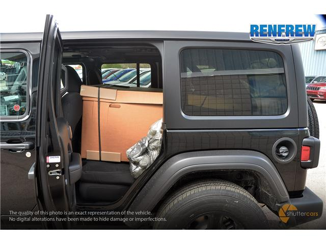 2019 Jeep Wrangler Unlimited Sport (Stk: K256) in Renfrew - Image 8 of 20