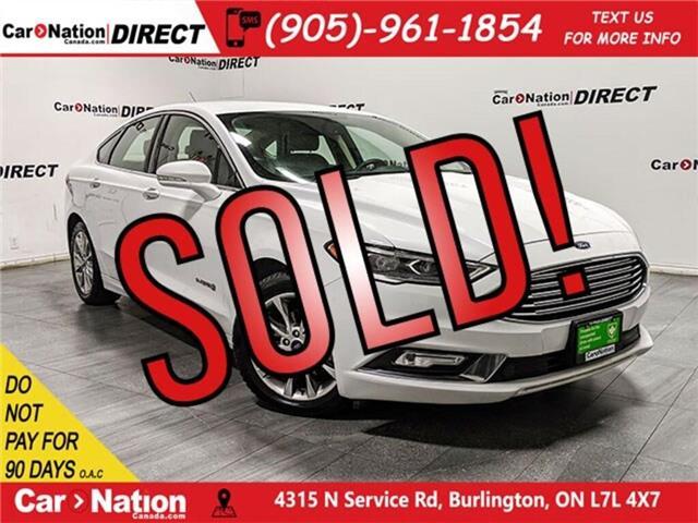 2017 Ford Fusion Hybrid SE (Stk: CN5483) in Burlington - Image 1 of 38