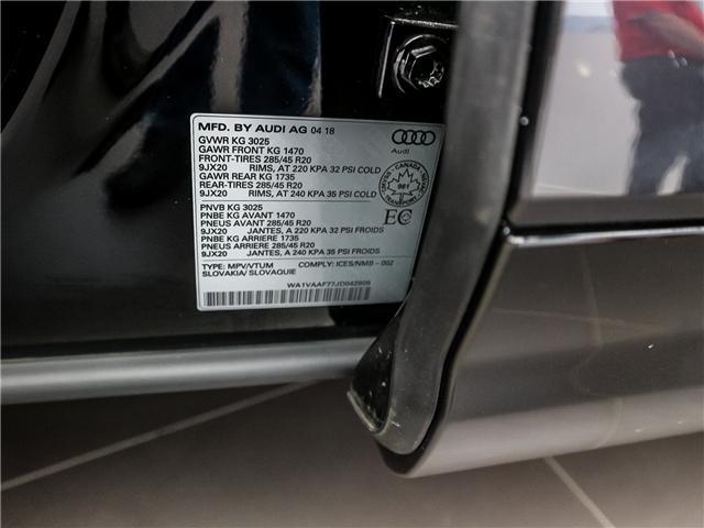 2018 Audi Q7 3.0T Technik (Stk: P3208) in Toronto - Image 32 of 34