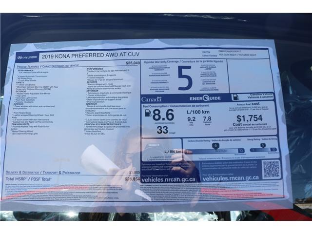 2019 Hyundai Kona 2.0L Preferred (Stk: 99874) in Saint John - Image 2 of 2