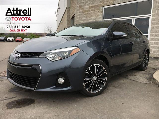 2015 Toyota Corolla S TECH PKG LEATHER, SUNROOF, NAVI, ALLOYS, FOG, SP (Stk: 44336A) in Brampton - Image 1 of 28