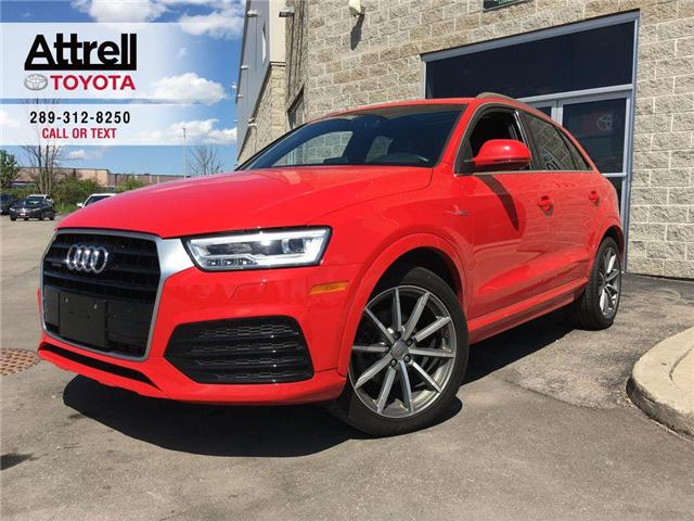 2017 Audi Q3 LEATHER, SUNROOF, NAVI, ALLOYS, FOG, PUSH BUTTON S (Stk: 43980A) in Brampton - Image 1 of 25