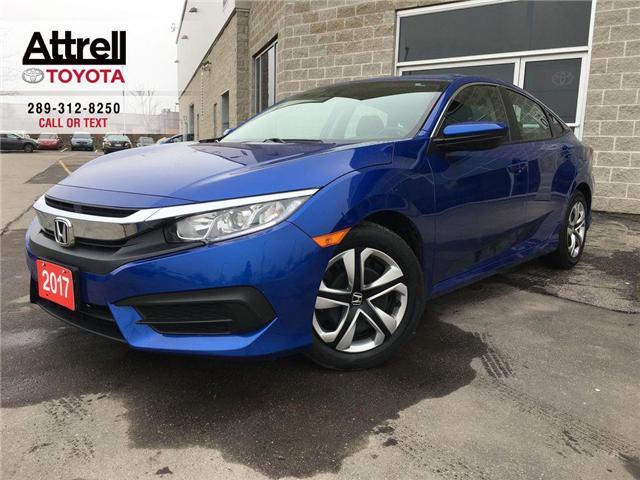 2017 Honda Civic Sedan LX BLUETOOTH, HEATED SEATS, BACK UP CAMERA, ABS, K (Stk: 44073A) in Brampton - Image 1 of 26