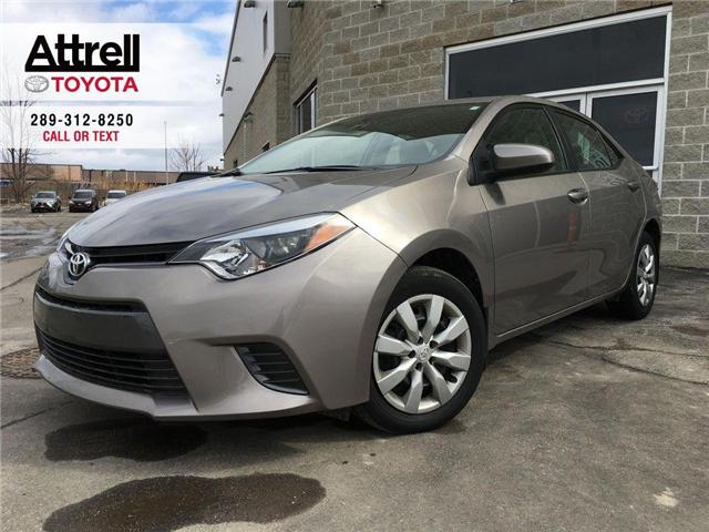 2015 Toyota Corolla LE KEYLESS, CRUISE, HEATED SEATS, BACKUP CAMERA, B (Stk: 43558A) in Brampton - Image 1 of 26