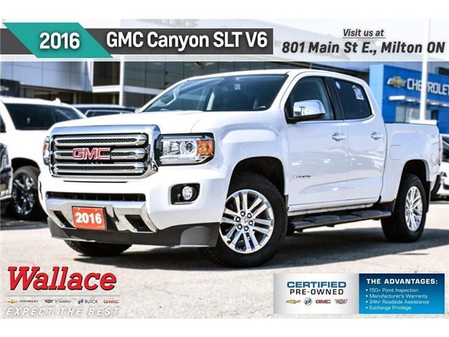 2016 GMC Canyon SLT/V6/HTD SEATS/HD TRAILR/8 SCRN/RMT STRT (Stk: PL5199) in Milton - Image 1 of 27