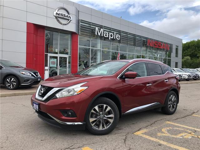 2016 Nissan Murano SL AWD-Navi,Leather,Roof,Alloys! (Stk: LM332) in Maple - Image 1 of 24