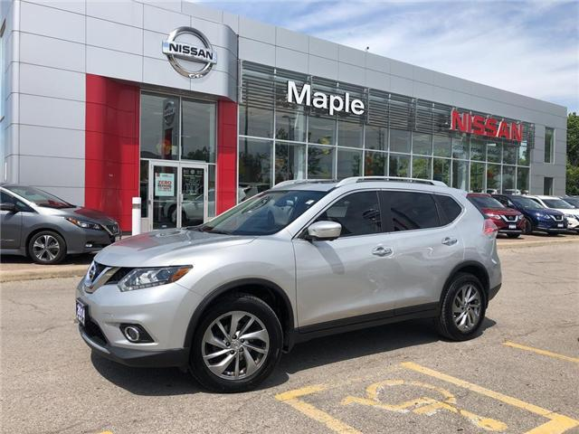 2014 Nissan Rogue SL AWD--LEATHER,ROOF,NAVI,CLEAN CARFAX! (Stk: LM364) in Maple - Image 1 of 25