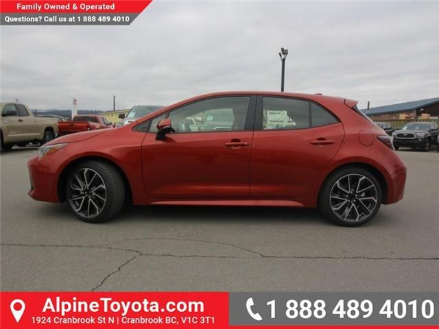 2019 Toyota Corolla Hatchback SE Upgrade Package (Stk: 3019456) in Cranbrook - Image 2 of 17