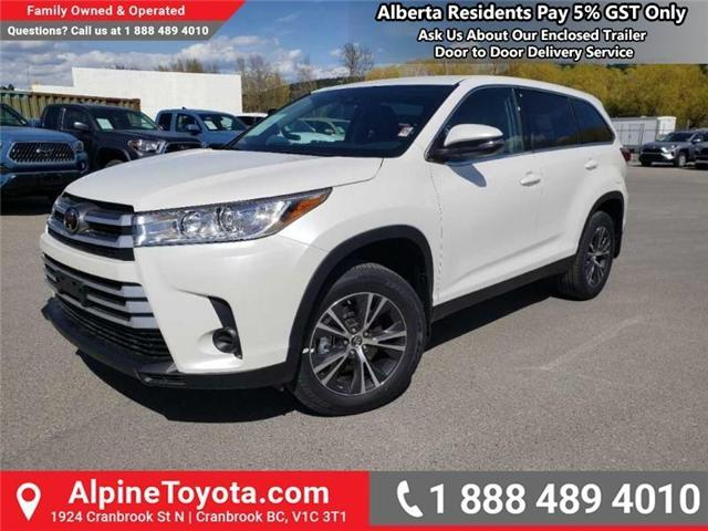 2019 Toyota Highlander LE (Stk: S975273) in Cranbrook - Image 1 of 15