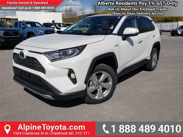 2019 Toyota RAV4 Hybrid Limited (Stk: W001666) in Cranbrook - Image 1 of 17
