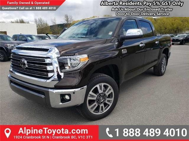 2019 Toyota Tundra 1794 Edition Package (Stk: X832548) in Cranbrook - Image 1 of 19