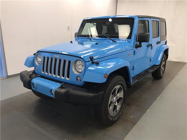2018 Jeep Wrangler JK Unlimited Sahara 1C4BJWEG5JL876481 207172 in Lethbridge